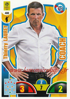 2018-19 - Panini Adrenalyn XL Ligue 1 - N° 488 - Thierry LAUREY (Strasbourg) (Coach)