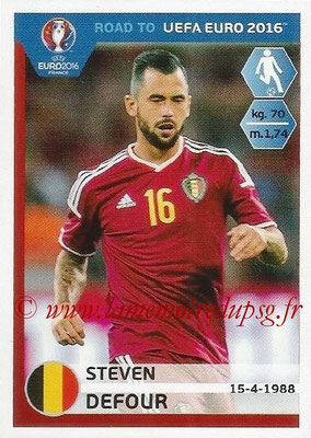 Panini Road to Euro 2016 Stickers - N° 007 - Steven DEFOUR (Belgique)