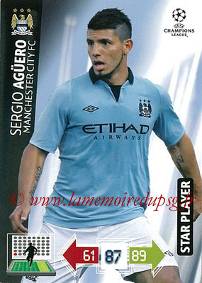 2012-13 - Adrenalyn XL champions League N° 134 - Sergio AGÜERO (Manchester City FC) (Star Player)