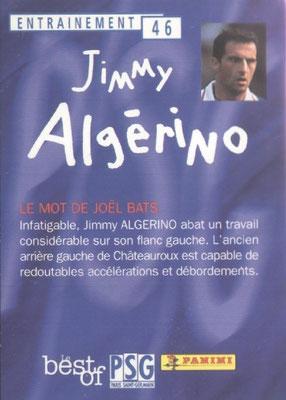 N° 046 - - Jimmy ALGERINO (Verso)