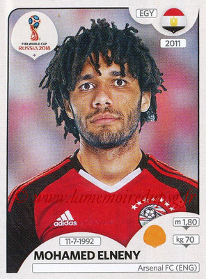 2018 - Panini FIFA World Cup Russia Stickers - N° 085 - Mohamed ELNENY (Egypte)