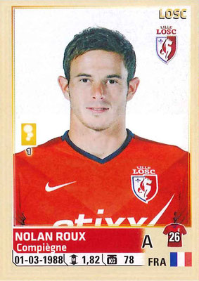 2014-15 - Panini Ligue 1 Stickers - N° 166 - Nolan ROUX (Lille OSC)