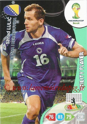2014 - Panini FIFA World Cup Brazil Adrenalyn XL - N° 042 - Senad LULIC (Bosnie-Herzegovine) (Utility Player)