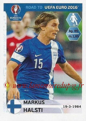 Panini Road to Euro 2016 Stickers - N° 327 - Markus HALSTI (Finlande)