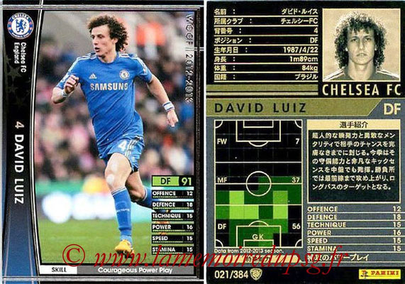 N° 021 - David LUIZ (2012-13, Chelsea, ANG > 2014-??, PSG)