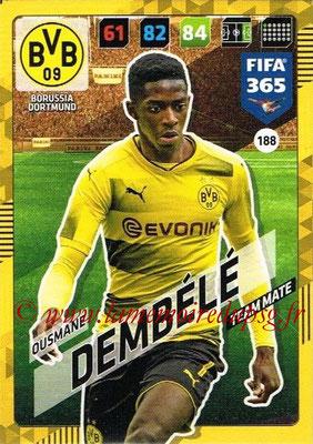 2017-18 - Panini FIFA 365 Cards - N° 188 - Pierre-Emerick AUBAMEYANG (Borussia Dortmund)