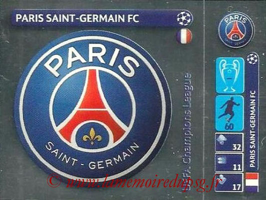 2014-15 - Panini Champions League N° 026 - Logo Paris Saint-Germain FC