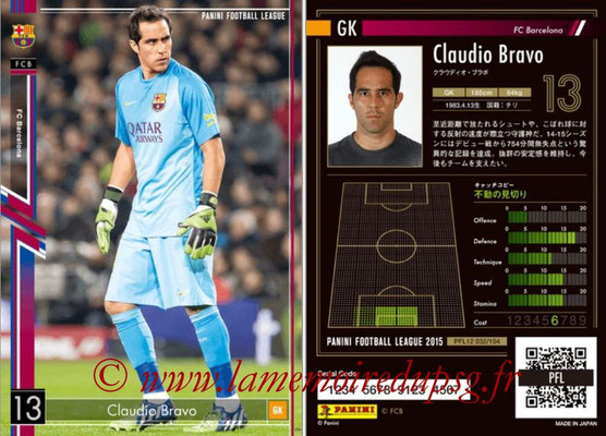 Panini Football League 2015 - PFL12 - N° 032 - Claudio BRAVO (FC Barcelone)