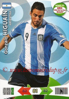 2014 - Panini Road to FIFA World Cup Brazil Adrenalyn XL - N° 010 - Gonzalo HIGUAIN (Argentine)