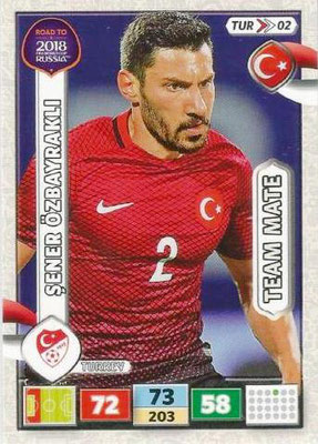 2018 - Panini Road to FIFA World Cup Russia Adrenalyn XL - N° TUR02 - Sener ÖZBAYRAKLI (Turquie)