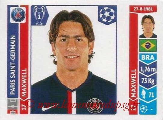 2014-15 - Panini Champions League N° 448 - MAXWELL (Paris Saint-Germain)