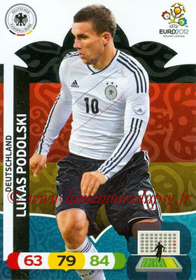 Panini Euro 2012 Cards Adrenalyn XL - N° 038 - Lukas PODOLSKI (Allemagne)