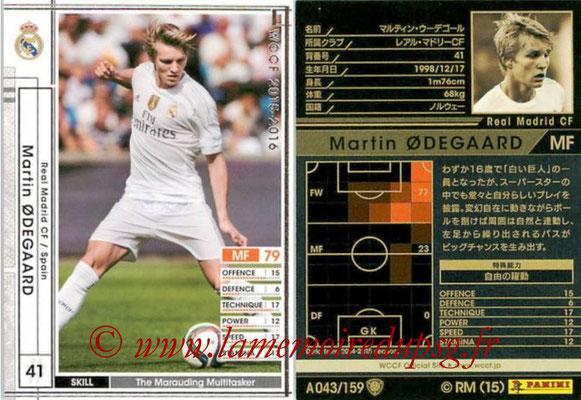 2015-16 - Panini WCCF - N° A043 - Martin ODEGAARD (Real Madrid CF)