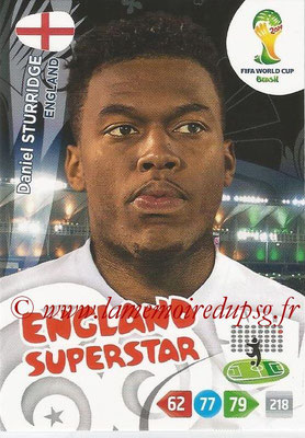 2014 - Panini FIFA World Cup Brazil Adrenalyn XL - N° 141 - Daniel STURRIDGE (Angleterre)