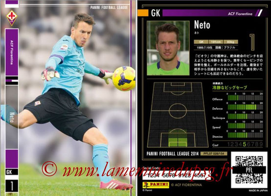 Panini Football League 2014 - PFL07 - N° 028 - NETO (ACF Fiorentina)