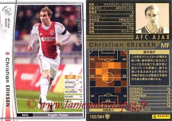 2012-13 - WCCF - N° 152 - Christian ERIKSEN (AFC Ajax)