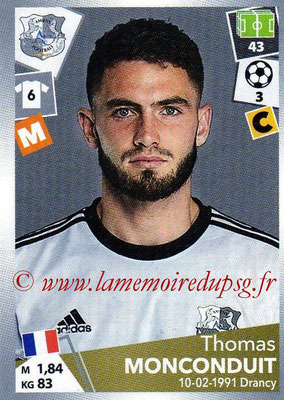 2017-18 - Panini Ligue 1 Stickers - N° 013 - Thomas MONCONDUIT (Amiens)