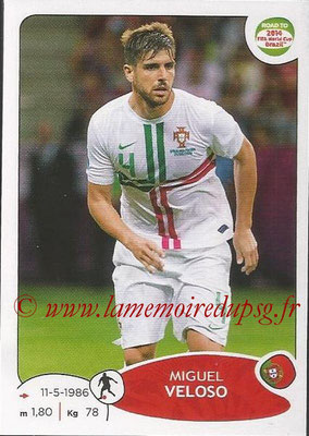 2014 - Panini Road to FIFA World Cup Brazil Stickers - N° 322 - Miguel VELOSO (Portugal)
