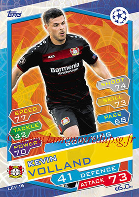 2016-17 - Topps UEFA Champions League Match Attax - N° LEV16 - Kevin VOLLAND (Bayer 04 Leverkusen) (Goal King)