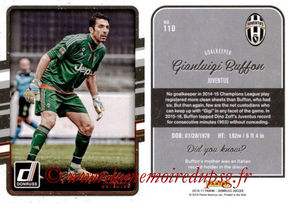 2016 - Panini Donruss Cards - N° 110 - Gianluigi BUFFON (Juventus FC)