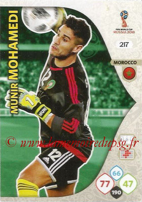2018 - Panini FIFA World Cup Russia Adrenalyn XL - N° 217 - Munir MOHAMEDI (Maroc)