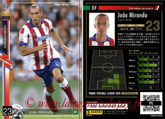 Panini Football League 2015 - PFL09 - N° 056 - Joao MIRANDA (Atletico Madrid)