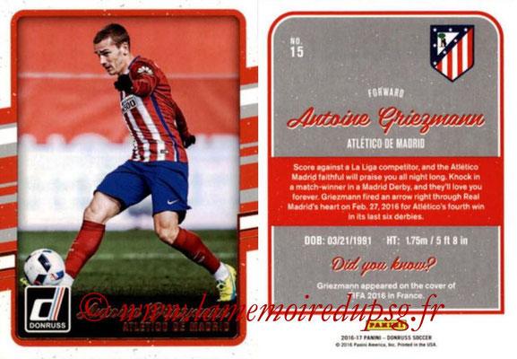 2016 - Panini Donruss Cards - N° 015 - Antoine GRIEZMANN (Atlético de Madrid)