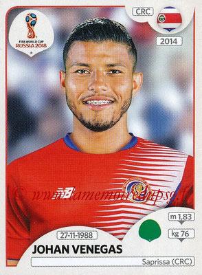 2018 - Panini FIFA World Cup Russia Stickers - N° 411 - Johan VENEGAS (Costa Rica)
