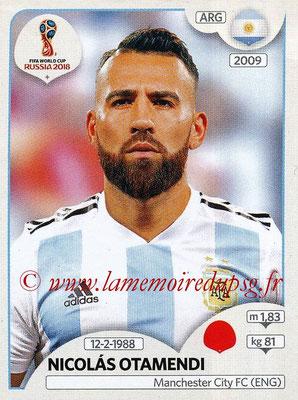 2018 - Panini FIFA World Cup Russia Stickers - N° 278 - Nicolas OTAMENDI (Argentine)