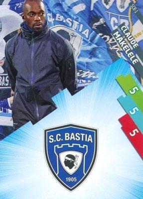 N° 001 - SCB-01 - Claude MAKELELE (2008-11, PSG > Déc 2011-14, Entraîneur adjoint PSG > 2014-15, Entraîneur Bastia)