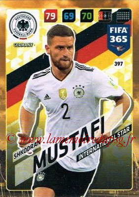 2017-18 - Panini FIFA 365 Cards - N° 397 - Shkodran MUSTAFI (Allemagne) (International Star)
