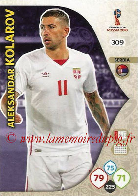 2018 - Panini FIFA World Cup Russia Adrenalyn XL - N° 309 - Aleksandar KOLAROV (Serbie)