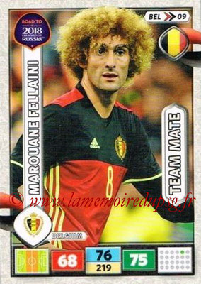 2018 - Panini Road to FIFA World Cup Russia Adrenalyn XL - N° BEL09 - Marouane FELLAINI (Belgique)