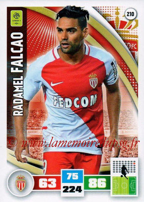 2016-17 - Panini Adrenalyn XL Ligue 1 - N° 210 - Radamel FALCAO (Monaco)