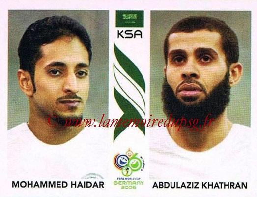 2006 - Panini FIFA World Cup Germany Stickers - N° 594 - Mohammed HAIDAR + Abdulaziz KHATHRAN (Arabie Saoudite)