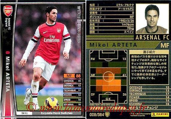 N° 008 - Mikel ARTETA (Janv 2001-02, PSG > 2012-13, Arsenal, ANG)