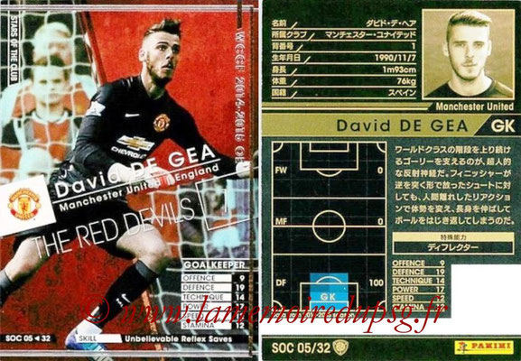 2014-15 - WCCF - N° SOC05 - David DE GEA (Manchester United FC) (Stars Of the Club)