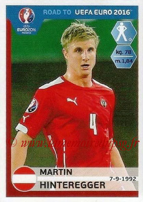 Panini Road to Euro 2016 Stickers - N° 197 - Martin HINTEREGGER (Autriche)