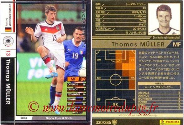 2013-14 - WCCF - N° 330 - Thomas MULLER (Allemagne)