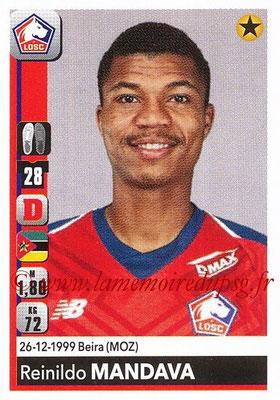2018-19 - Panini Ligue 1 Stickers - N° T14 - Reinildo MANDAVA (Lille) (Transfert)