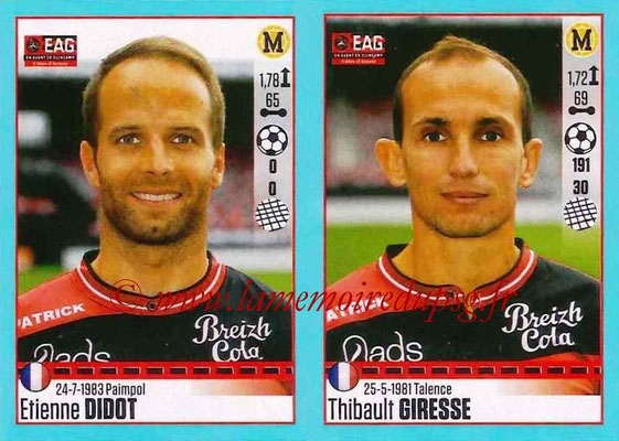 2016-17 - Panini Ligue 1 Stickers - N° 246 + 247 - Etienne DIDOT + Thibault GIRESSE (Guingamp)
