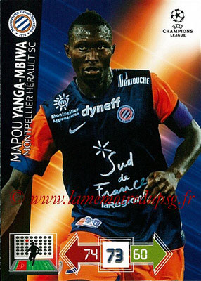2012-13 - Adrenalyn XL champions League N° 166 - Mapou YANGA-MBIWA (Montpellier HSC)