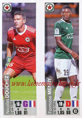 2018-19 - Panini Ligue 1 Stickers - N° 554 - Nicolas DOUCHEZ + Formose MENDY (Red Star FC)