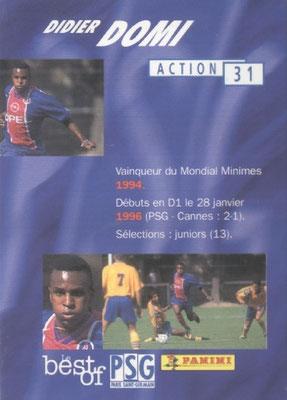 N° 031 - Didier DOMI (Verso)
