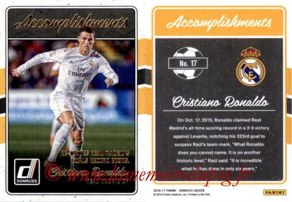 2016 - Panini Donruss Cards - N° A17 - Cristiano RONALDO (Real Madrid CF) (Accomplishments)