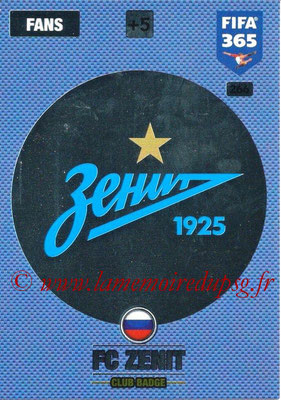 2016-17 - Panini Adrenalyn XL FIFA 365 - N° 266 - Logo FC Zenit (Club Badge)