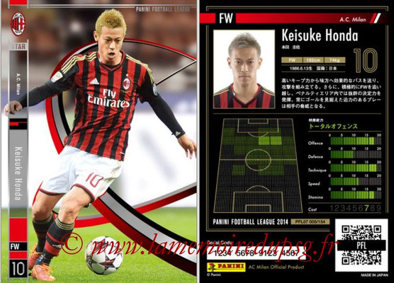 Panini Football League 2014 - PFL07 - N° 005 - Keisuke HONDA (Milan AC) (Star)