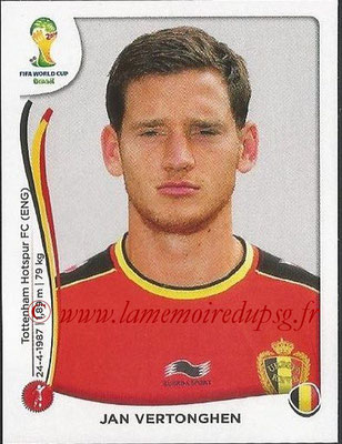 2014 - Panini FIFA World Cup Brazil Stickers - N° 569 - Jan VERTONGHEN (Belgique)