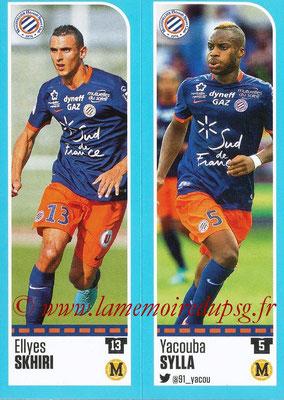 2016-17 - Panini Ligue 1 Stickers - N° 518 + 519 - Ellyes SKHIRI + Yacouba SYLLA (Montpellier)