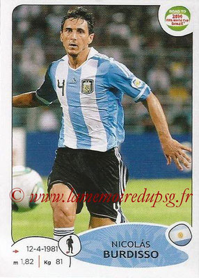 2014 - Panini Road to FIFA World Cup Brazil Stickers - N° 061 - Nicolas BURDISSO (Argentine)